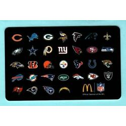 MCDONALD'S Team Logos of the NFL 2014 Gift Card ( $0 )
