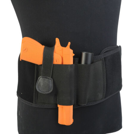 img-Tactical Military Invisible Elastic Belly Band Waist Pistol Gun Holster Belt