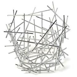 Citrus Fruit Basket Alessi FC03 Blow Up in 18/10 Stainless Steel - Centerpiece