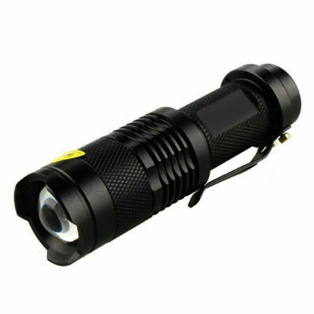 img-1200LM Zoomable Q5 LED 1Mode 14500/AA Tactical Military Emergent Flashlight.