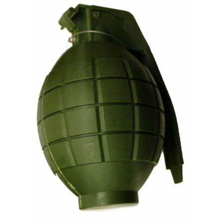 img-Kids Army Toy GREEN Hand Grenade - With Lights & sound - Role Play (HL374)