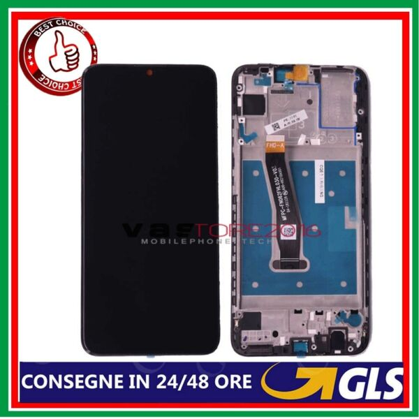 DISPLAY LCD PER HUAWEI P SMART 2019 TOUCH SCREEN +FRAME SCHERMO VETRO POT-LX1 T