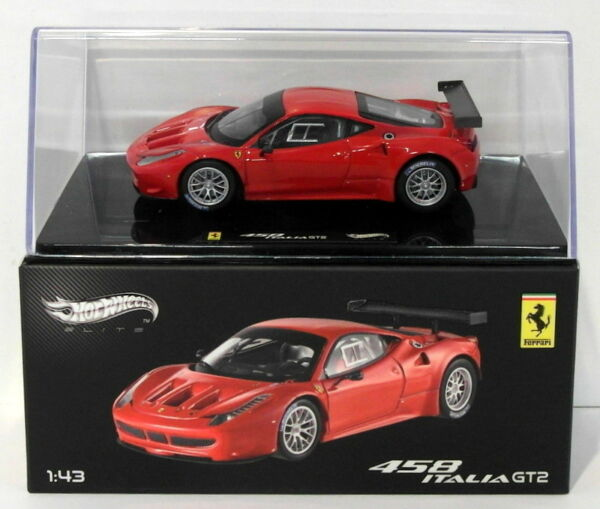 Royaume-UniHot Wheels 1/43 Scale Diecast X2861 - Ferrari 458 Italia GT2 - Red