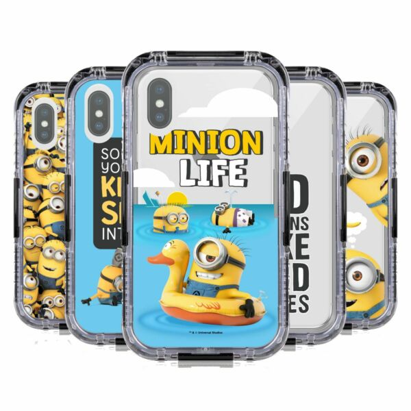 Royaume-UniDESPICABLE ME FUNNY  BLACK WATER RESISTANT CASE FOR APPLE iPHONE PHONES