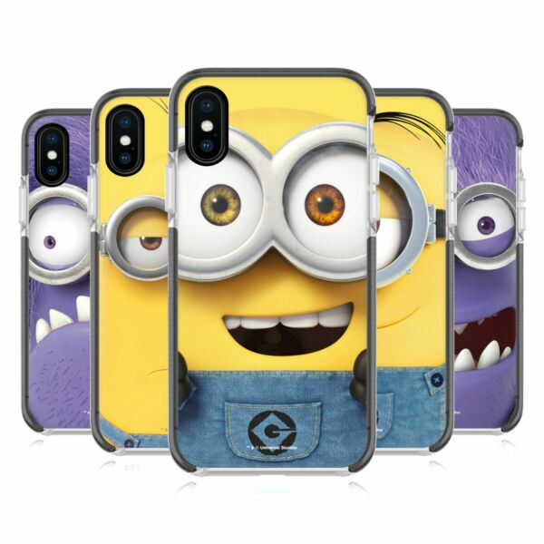 Royaume-UniDESPICABLE ME FULL FACE  SCHWARZ SCHOCKSICHERER BUMPER HÜLLE iPHONE PHONE