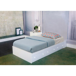 Benzara Luxurious Twin Size Chest Bed with 3 Storage Drawers