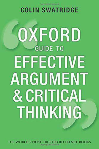 Royaume-UniOxford Guide Pour  Argument Et Critical Thinking (Oxford Guides) Par