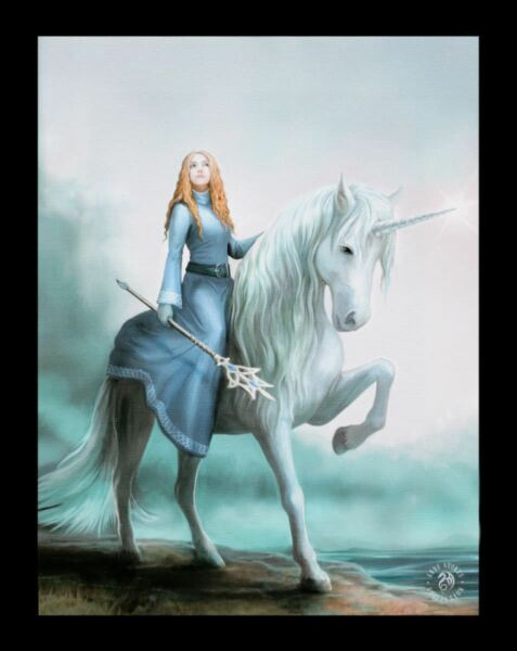 AllemagnePetite Toile Avec Licorne - Voyage Commence - Anne Stokes Cheval Elfe Image