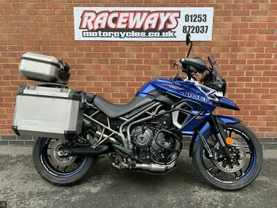 TRIUMPH TIGER 800 XRX LOW 2018 18 REG 6,525 MILES BLUE MOTORCYCLE 800CC