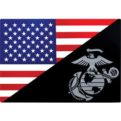 USMC Eagle, Globe and Anchor Flag Decal Adhesive Sticker USA American Outdoor