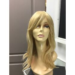 Forever Young GIRLS NITE OUT Long + Bangs Fashion HD Wig, Candy Blonde