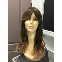 Forever Young GIRLS NITE OUT Long + Bangs Fashion HD Wig, 24BT18 Blondes