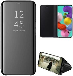 Funda Flip Cover Clear View para Samsung Galaxy A51 5G color Negra