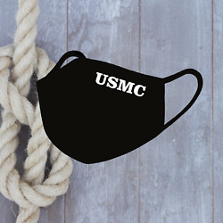 USMC Marine Cops face Mask printed in USA Reusable Washable Cover Mask - DSN2