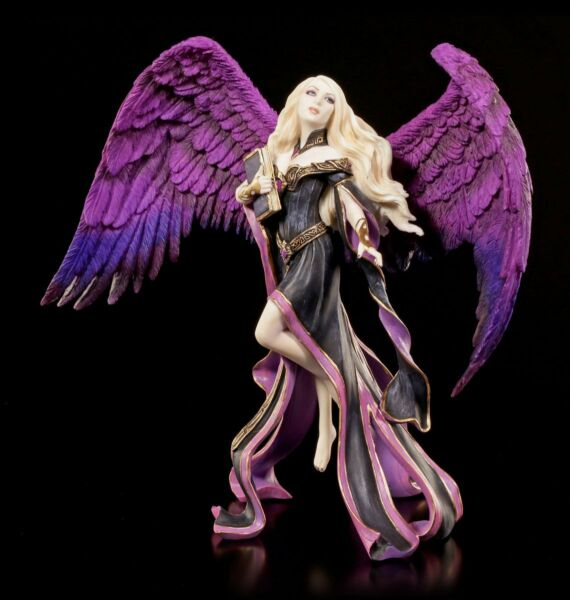 AllemagneAnge Figurine - Dark  By James Ryman - Fée Elfe de Collection Mauve