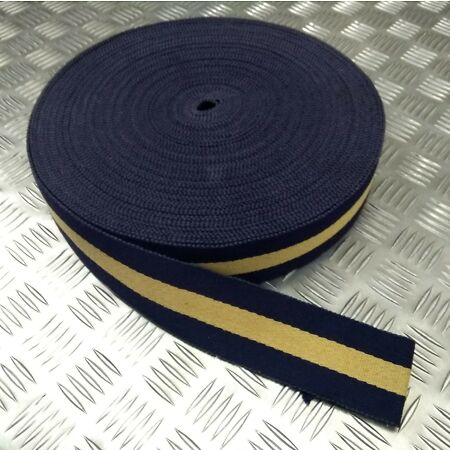 img-Genuine Bermuda Police Force Issue Cotton Canvas Stable Belt Material 57mm NEW