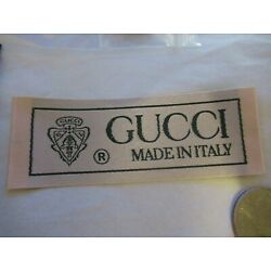 Kyпить GUCCI for 1 Clothing Designer Tag LABEL Replacement Sewing Accessories lot 1 на еВаy.соm