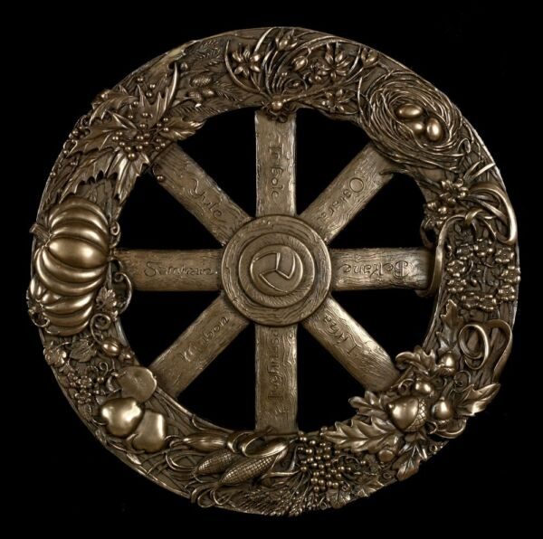 AllemagneWall Relief Wicca - The Jahresrad - Figurine Magic Celtic - Maxine Miller