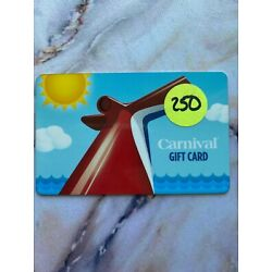Kyпить Carnival Cruise Gift Card value $250.00 for $200.00 на еВаy.соm
