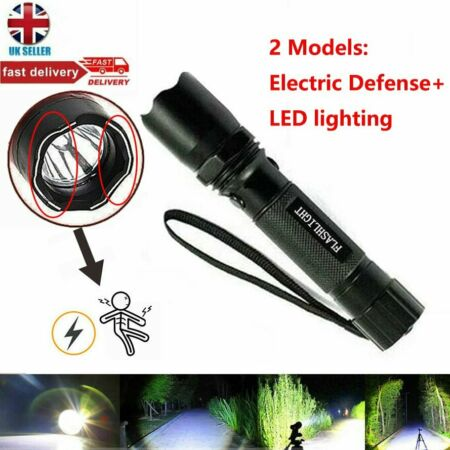 img-USB Rechargeable LED Torch Flashlight Police Tactical Zoom Outdoor Camping Lamp