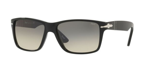 ItalieLunettes de Soleil Persol OFFICINA PO 3195S Black/Grey Shaded 58/16/145 homme