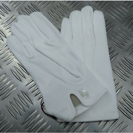 img-Genuine Military Issue 3 Dart White Cotton Parade Ceremonial Gloves WD1 NEW