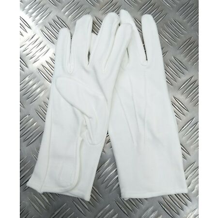 img-Genuine Military Issue 3 Dart White Parade Ceremonial Dimple Grip Gloves WD4