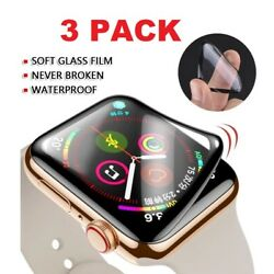 Kyпить 3-Pack For Apple Watch 6 5 4 3 2 SE Full Screen Protector iWatch 38/42 40/44mm на еВаy.соm