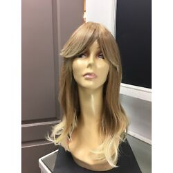 Forever Young GIRLS NITE OUT Long + Bangs Fashion HD Wig, 96 Blonde