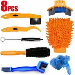 Kyпить 8Pcs Cleaning Tool Brush Kit Bicycle Bike Motorcycle Tire Chain Gear Wash Wheel на еВаy.соm