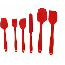 Kyпить Silicone Spatula Set 6 Pcs Heat Resistant Rubber Kitchen Utensils for Baking  на еВаy.соm