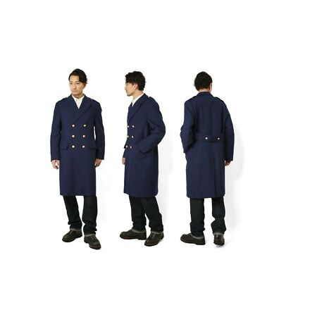img-Vintage French Air Force Blue Wool Greatcoat coat army trench military overcoat