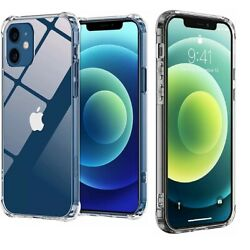 Kyпить For Apple iPhone 12 11 Pro 7 8 Plus X XR XS MAX SE 12 Mini Shockproof Clear Case на еВаy.соm