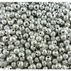 360pcs Tibetan Silver/Gold Small ball shape Round Spacer Beads 4mm