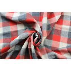 Kyпить Pendleton Red, Black and Gray Plaid wool fabric by the yard на еВаy.соm