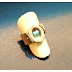 Kyпить Handcrafted Women's Ring by Eric Silva (USA) SIze 6.25 SS w Antler & Turquois на еВаy.соm