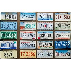 Kyпить License Plate Lot - 100 plates, Bulk, Mixed States, Craft or Collect  на еВаy.соm