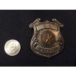 Kyпить Rare Early 1900's  Deputy US Marshal Shield Star Badge Brass  на еВаy.соm