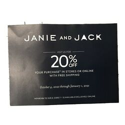 Kyпить Janie and Jack 20% off Purchase, Exp. 01.01.2021 на еВаy.соm