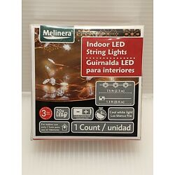 Melinera Indoor LED String Lights 7.5' Features Copper&Snow Flakes & 6hr Timer!