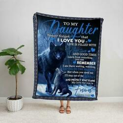 Kyпить Wolf to my daughter from dad my love for you is forever family fleece blanket на еВаy.соm