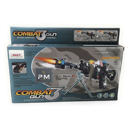 img-Kids Combat Machine Gun 3 Army Commando Pistol With Lights & Sounds Effect Toy