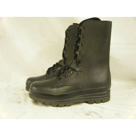 img-Swiss Army KS90 Surplus Combat Para Paratrooper High Leather Boots Size 4 37