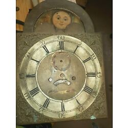 Kyпить #375 Antique Grandfather Clock Movement and Dial. To Restore на еВаy.соm