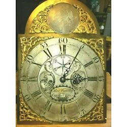 Kyпить #377 Antique Grandfather Clock Dial & Movement.