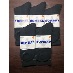 Kyпить NEW + FREE SHIPPING 5-Pack Bombas Calf High Socks Size Large Unisex MEN WOMEN  на еВаy.соm