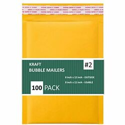 Sales4Less 2 8.5x12 Inches Kraft Bubble Mailers Shipping Padded Envelopes Pack