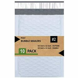 Sales4Less 2 Poly Bubble Mailers 8.5x12 Inches Shipping Padded Envelopes Self 10