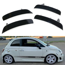 Smoked Lens Front & Rear Side Marker Housings w/ Bulbs For 11-19 Fiat 500 500e..