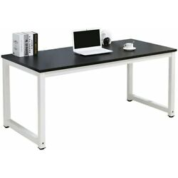 Kyпить Black Wood Computer Table Study Desk Office Furniture PC Laptop Workstation Home на еВаy.соm